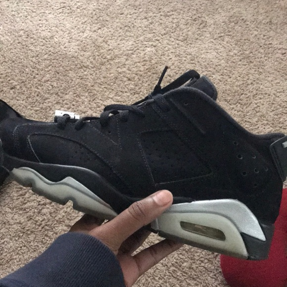 "pas mal 1536e 3d1c9 Air Jordan Retro 6 Low ""Black/Metallic Silver"""